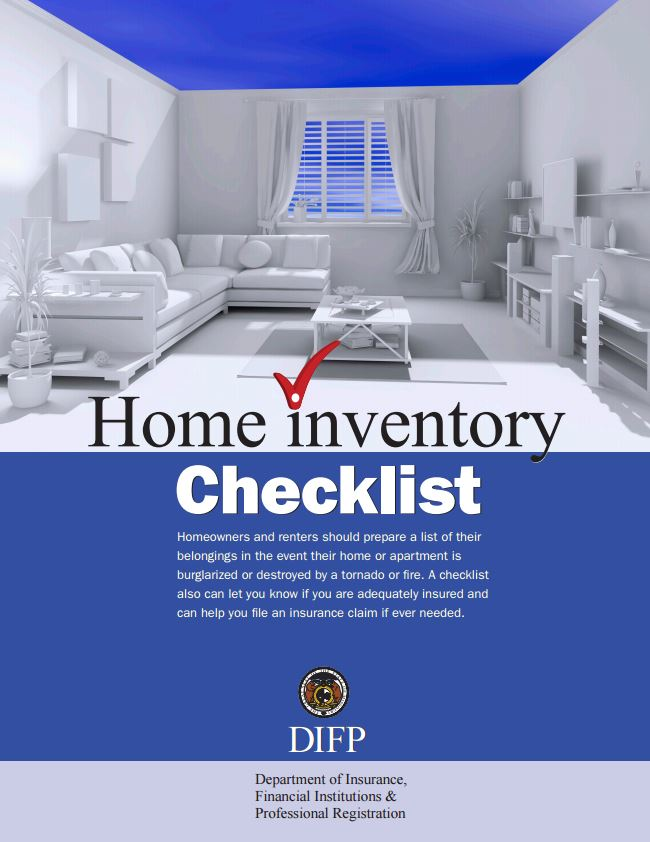 Home Inventory Checklist | Missouri Department of Insurance ...