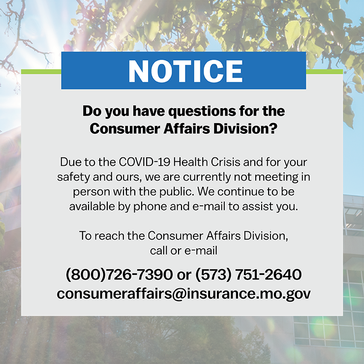 Consumer Affairs Notice