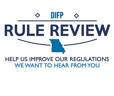 DIFP Rule Review Help Us Improve our Regulations WE Want to Hear from You