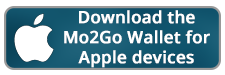 button image with words Download the Mo2Go Wallet for Apple divices